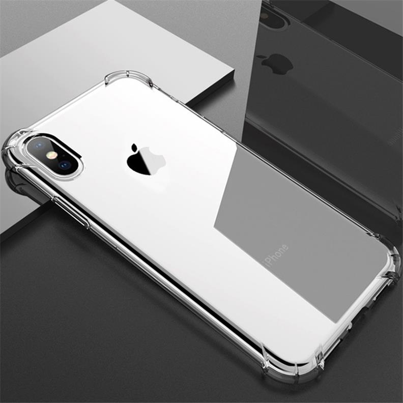 iPhone PRO MAX(6.5インチ) カバー ケース 高透明TPU 携帯電話 用 四隅 エアクッション バンパー スマホ 傷つけ 防止 保護(クリア)