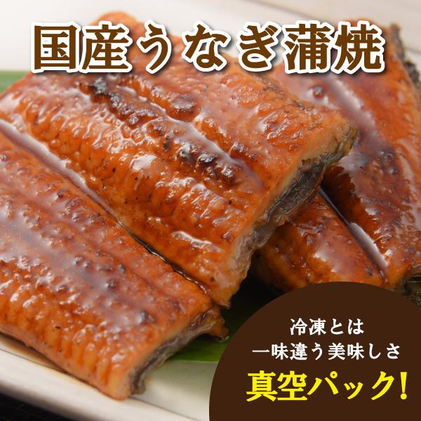 【特別セール】【中水食品工業】国産うなぎ蒲焼 3袋セット