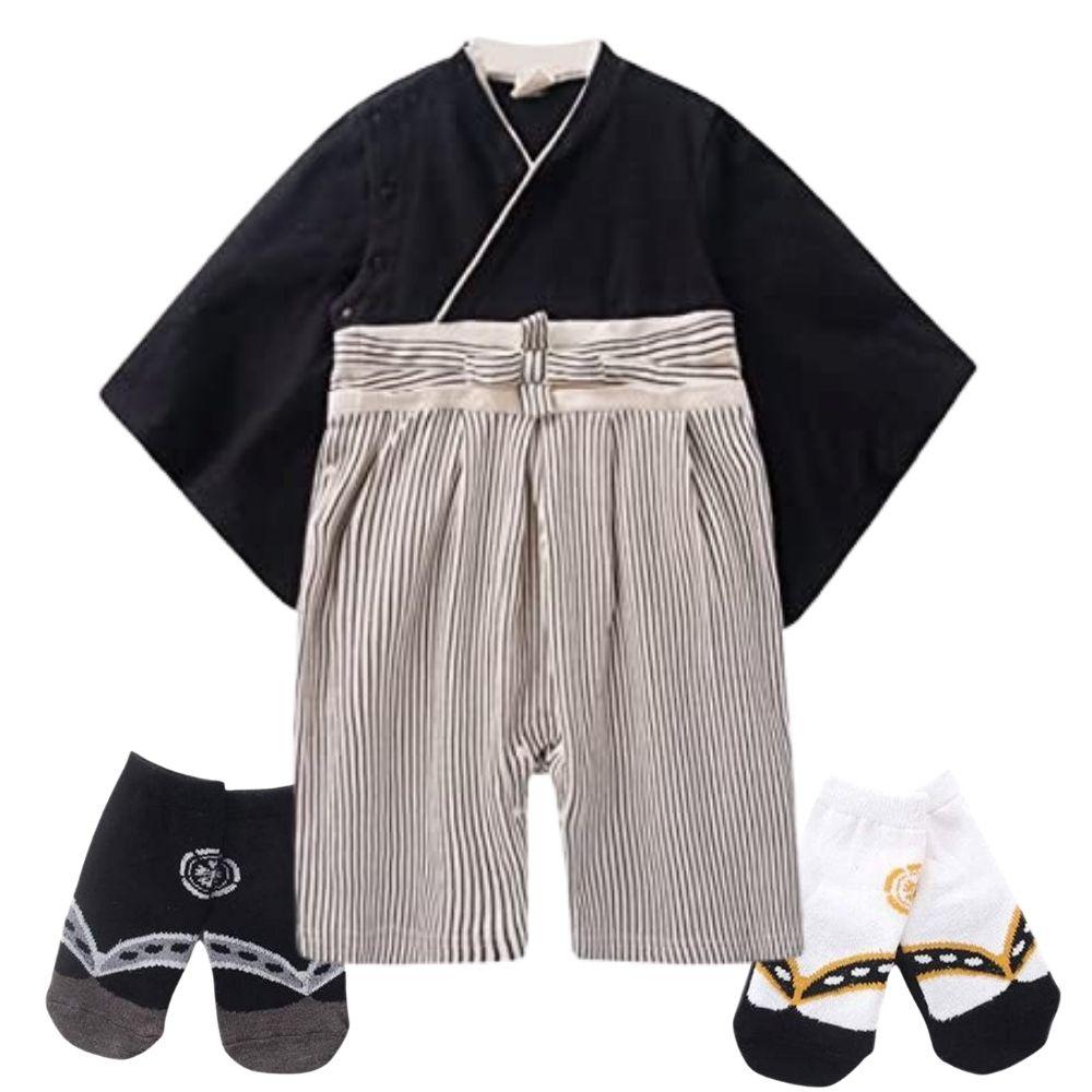 着物 男児 A <袴ロンパース&足袋ソックス2種セット>