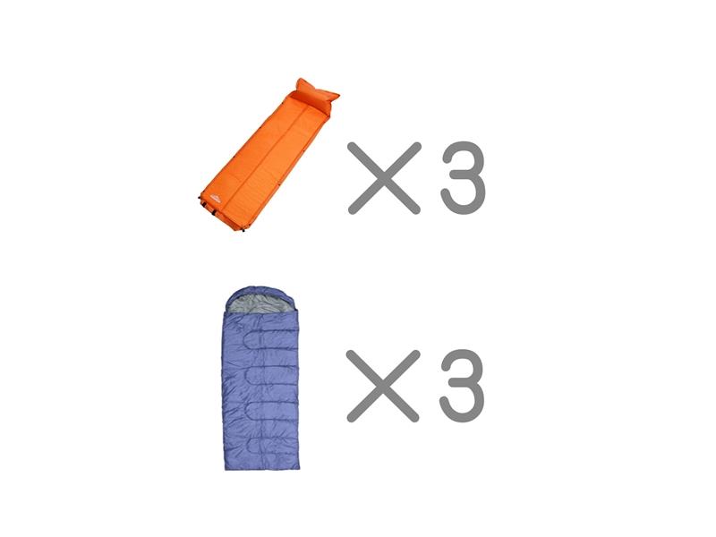 エアマット寝袋セット<3名様用>