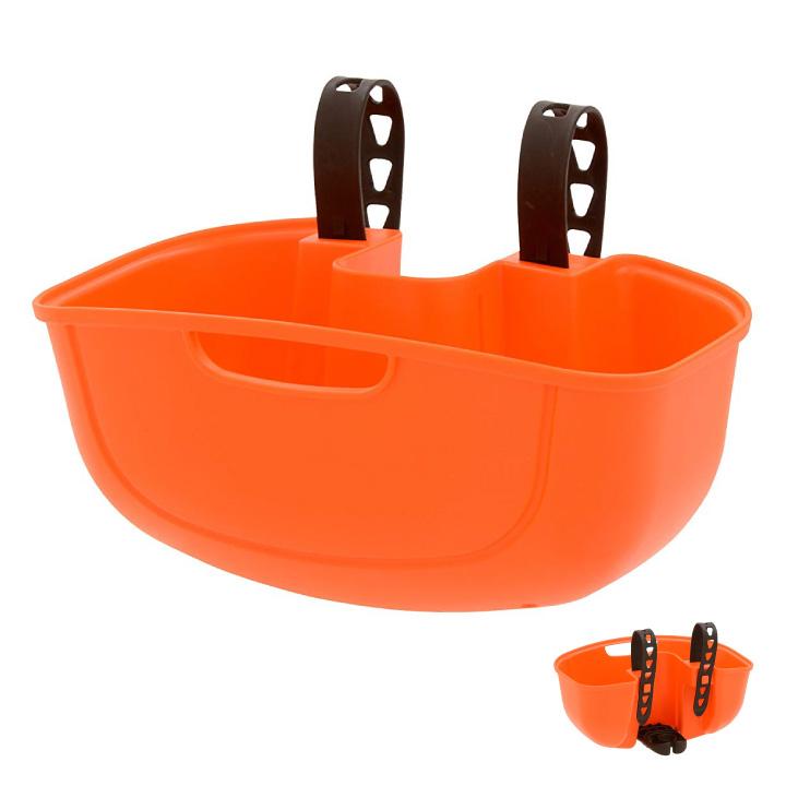 OGK技研 FB-051 オレンジ サイクルポケット フロント用バスケット 快適に荷物を運べるフロントタイプ