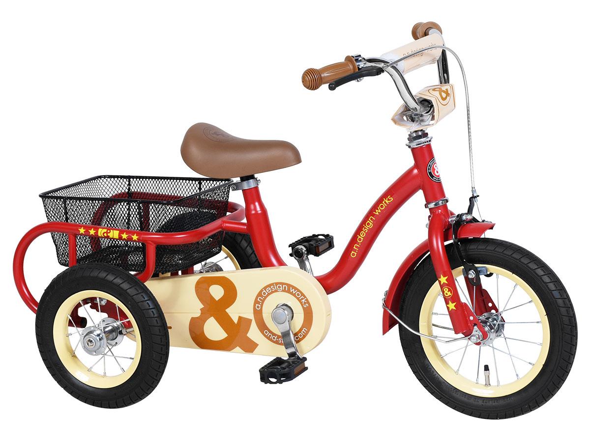 アウトレット a.n.design works a.n.d Tric アンドトライク 三輪車 ブレーキ付き 12インチ ステッカープレゼント