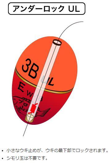 【山元工房】W合金18 Sタイプ アンダーロック レモン (レターパック可)