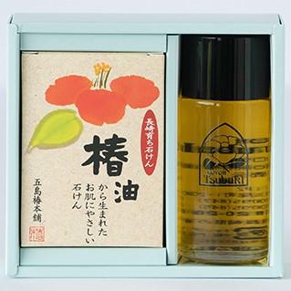 椿油と長崎育ち石けんの詰め合わせ(セット小)