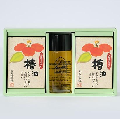 椿油と長崎石けんの詰め合わせ(セット大)