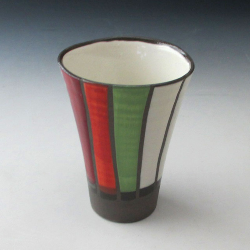 【陶器市】カラー十草フリーカップ(R)