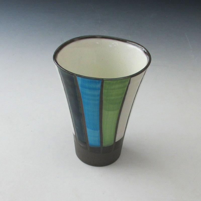 【陶器市】カラー十草フリーカップ(B)
