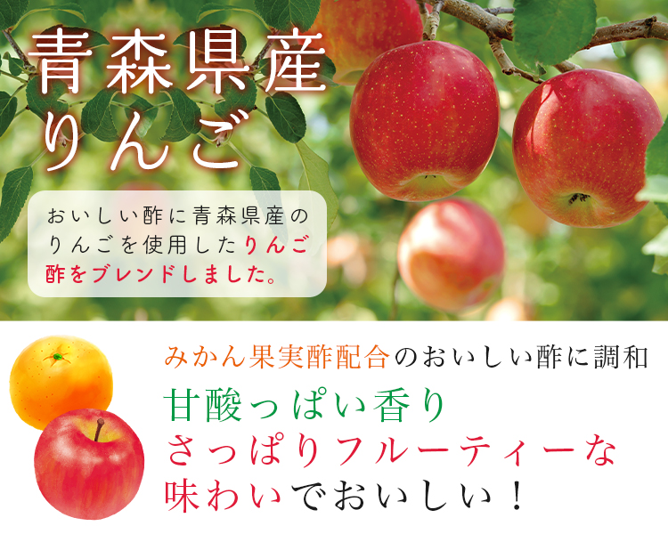 【ギフト】おいしい酢 青森りんご  900ml 3本セット