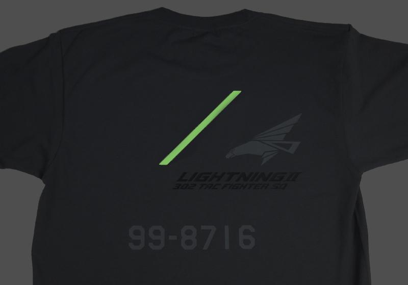 ライトニングII 302飛行隊Tシャツ(送料込)