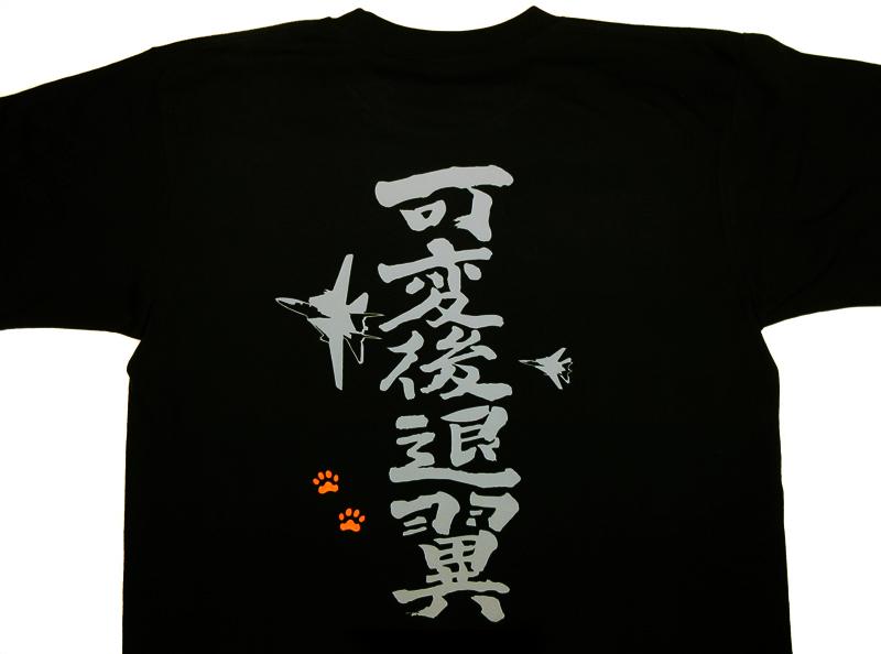 可変後退翼 筆文字(ドライ/綿)Tシャツ--送料込