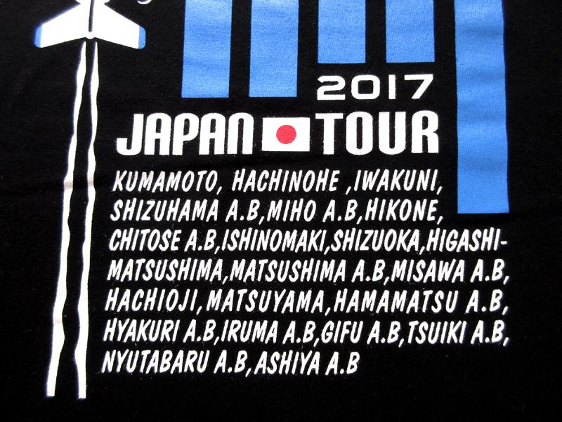 ブルーインパルス 2017 ツアーTシャツ(送料込)