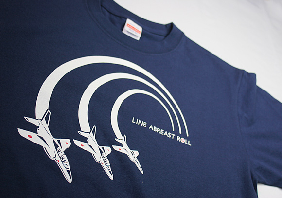 ブルーインパルス:ラインアブレストロール Tシャツ(送料込)