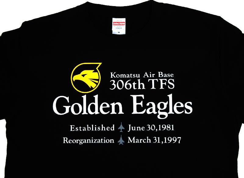 306TFS Golden Eagles Tシャツ(ドライ/綿・長袖有)送料込