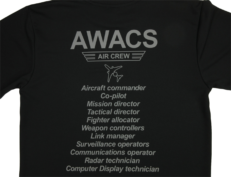 AWACS AIR CREW ドライTシャツ(送料込)