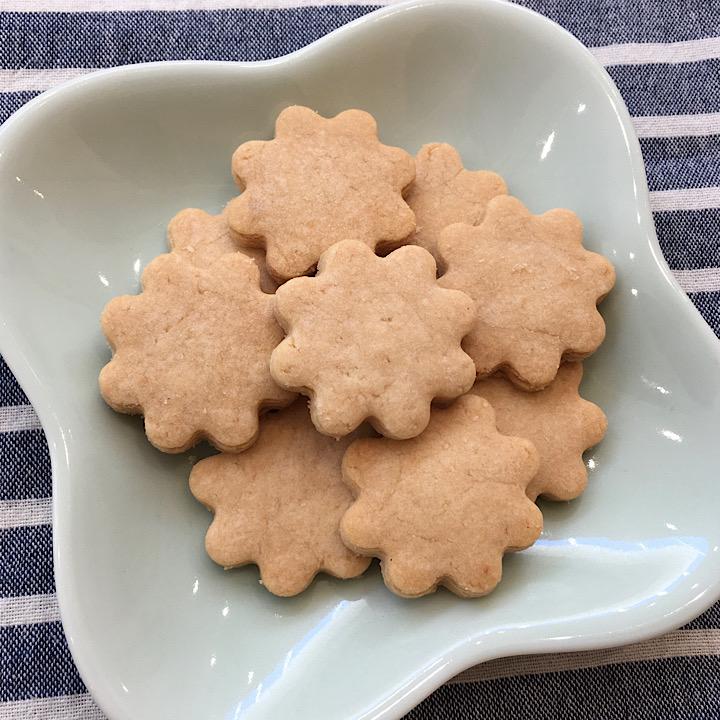 [レストランコア特製]自然栽培米粉のクッキー9枚(卵・乳製品不使用)