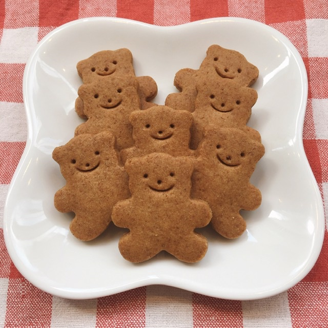 [レストランコア特製]全粒粉のくまさんクッキー 8枚(卵・乳製品不使用)