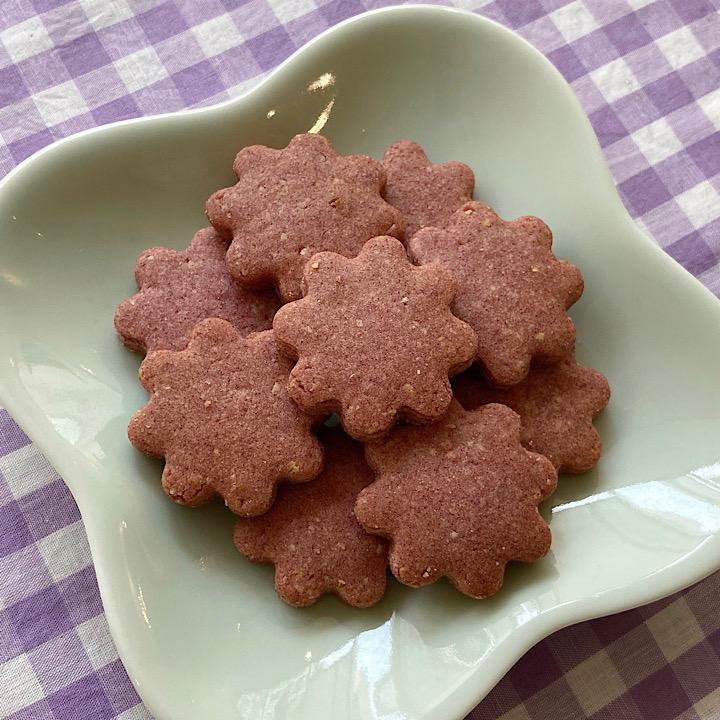 [レストランコア特製]自然栽培米粉のクッキー(紫芋)9枚(卵・乳製品不使用)