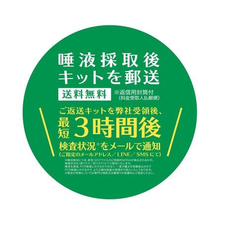 【PCR検査キット】 新型コロナウイルスPCR検査 唾液採取用検査キット