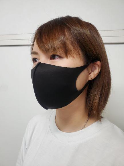 クールフィットマスク 3枚入 ブラック