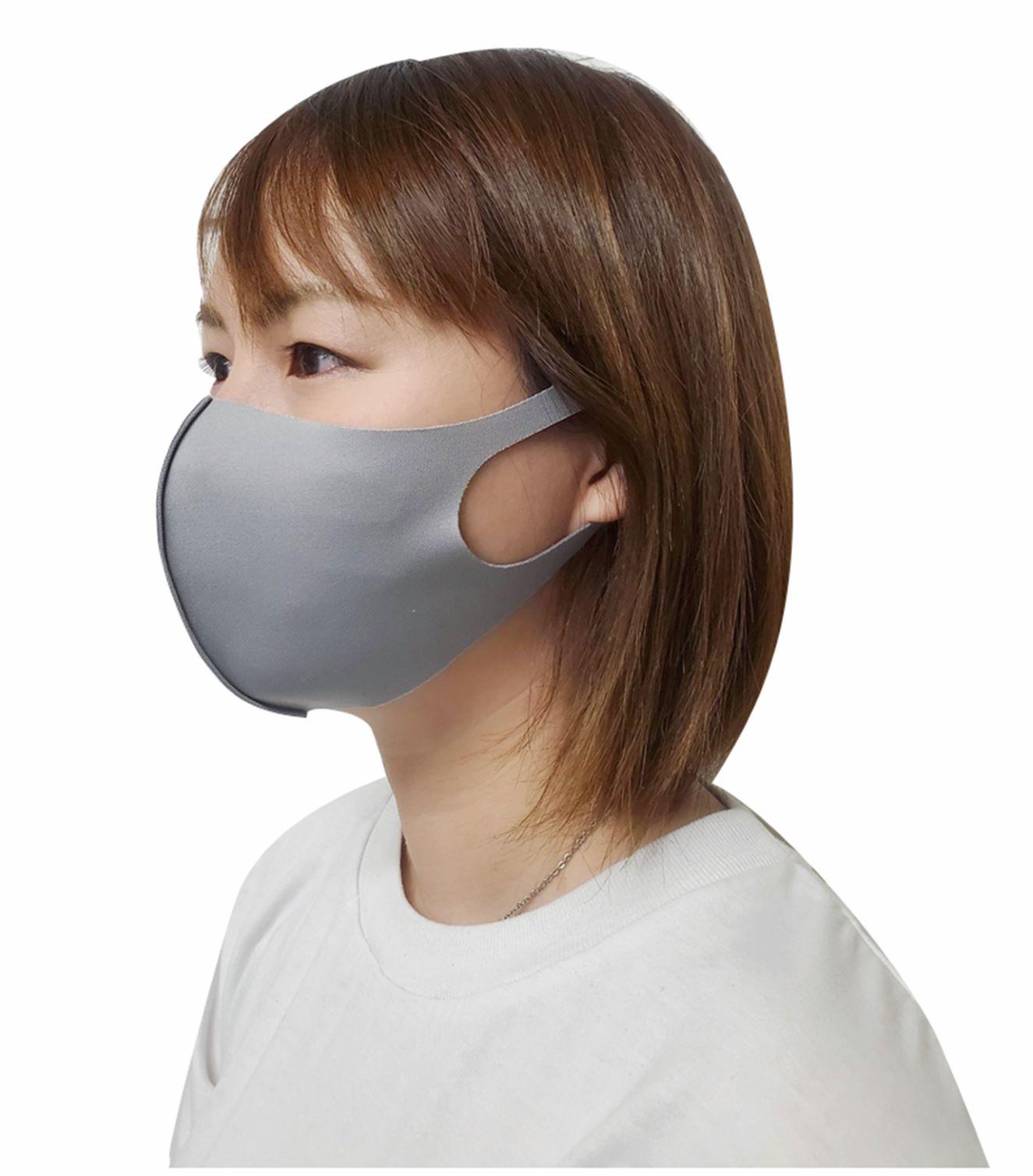 クールフィットマスク 3枚入 グレー