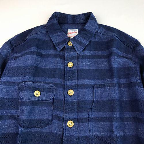 MOMOTARO JEANS 05-227 コットンリネン・ヘリンボーンシャツ