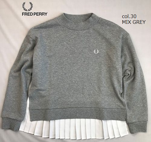 FRED PERRY F5361  Pleated Back Sweatshirt