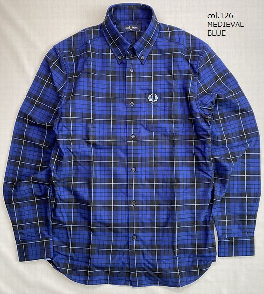 FRED PERRY M9640 BRUSHED OXFORD TARTAN SHIRT