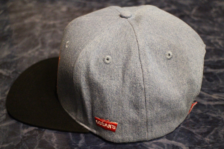 OSSANTHEHOOD snapback cap (indigo) / washed denim