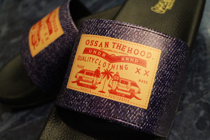 OSSANTHEHOOD slide (indigo)