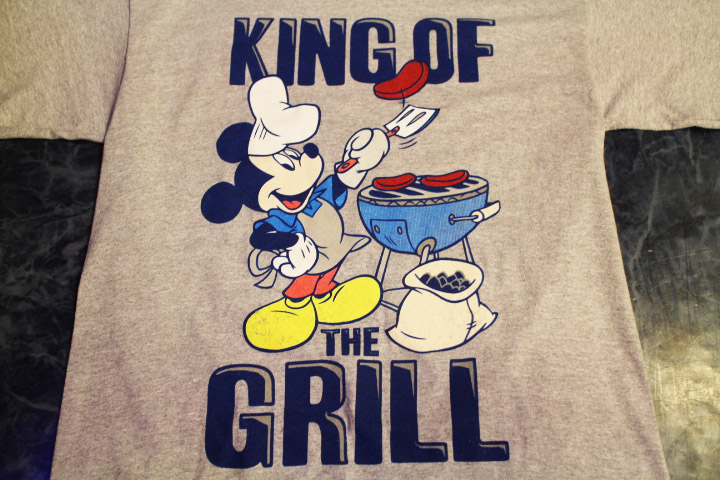 MICKEY MOUSE Tshirt (grill) / heather gray
