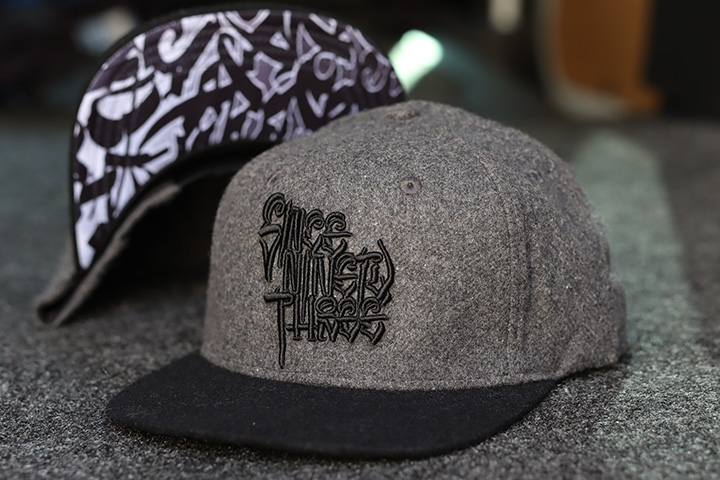 "NICETY ""SINCE NINETY THREE"" snapback cap / charcol wool"