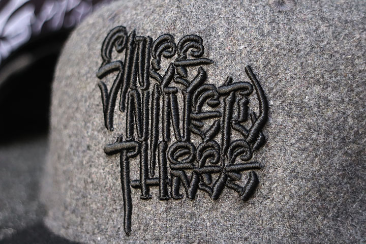 "NICETY ""SINCE NINETY THREE"" snapback cap / charcol wool"
