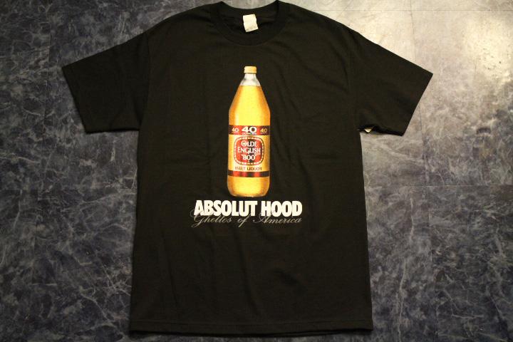 ABSOLUT HOOD Tshirt (o.e) / black