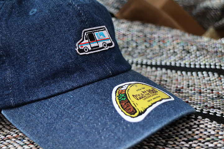 OSSANTHEHOOD denim dad hat (dark blue)