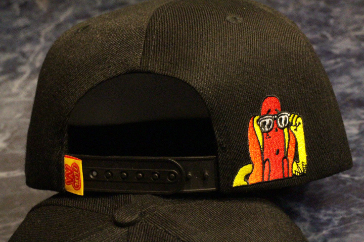 OSSANTHEHOOD snapback cap (most wanted) / black