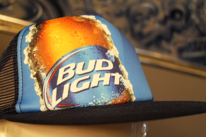BUD LIGHT mesh cap / blue