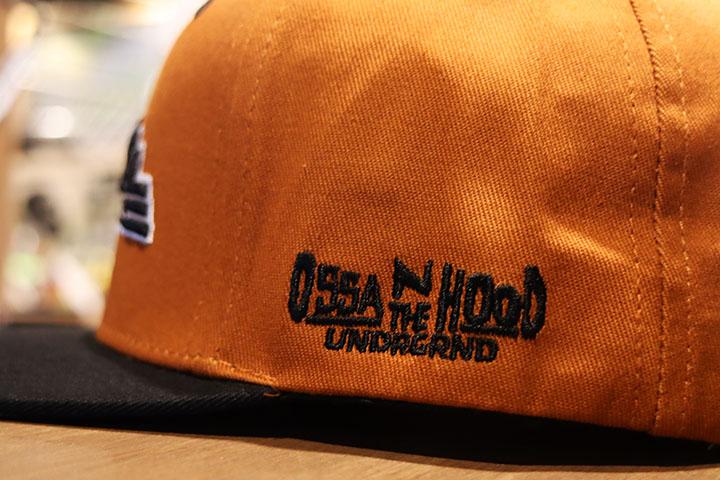 OSSANTHEHOOD snapback cap (ossanhyd) / brown x black