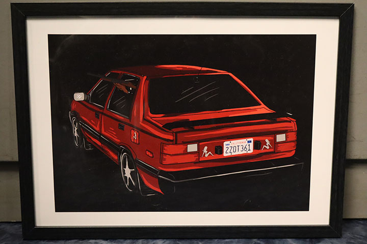 BERKLIN framed poster 44cm x 32cm (A3) / excel