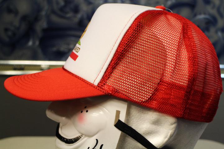 california baked mesh cap / white&red