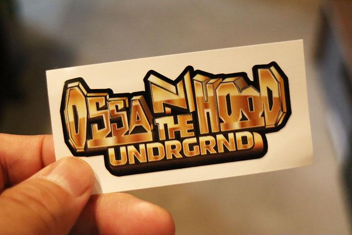 OSSANTHEHOOD vinyl sticker (placa)
