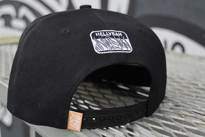 "NICETY ""EIGHT BALL""logo snapback cap"