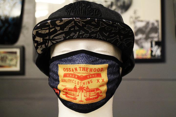 OSSANTHEHOOD spandex mask (indigo)