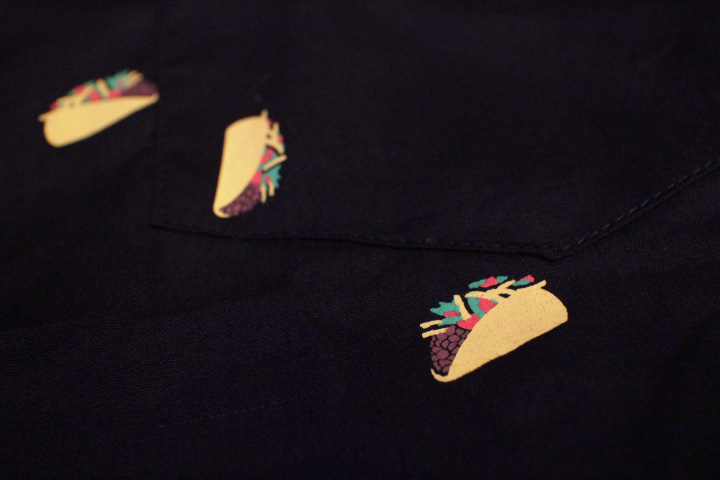 "MOROKAI ""TACOS"" botton shirt / black"