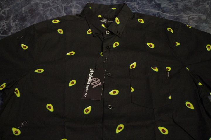 "MOROKAI ""AVOCADO"" botton shirt / black"