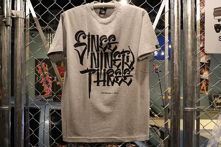 "NICETY ""SINCE NINETY THREE"" Tshirt  / heather x black"