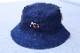 OSSANTHEHOOD reversible bucket hat (bit'nthehood) / indigo & twill