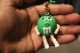 M & M pvc keychain / green