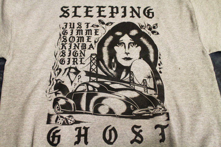SLEEPING GHOST crewneck sweat (gimmesome) / heather gray