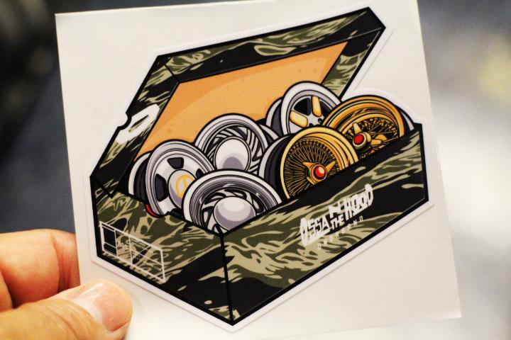 OSSANTHEHOOD vinyl sticker (justkickit-camo)