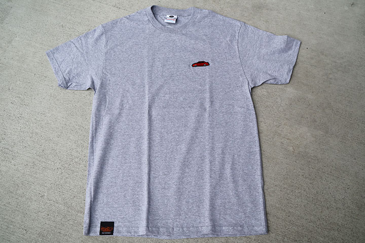 OSSANTHEHOOD patched Tshirt  (red car) / heather gray